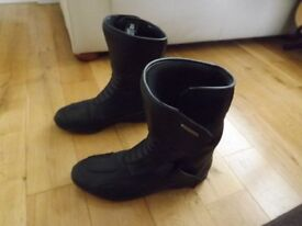 Leather Motorcycle boots size UK 12