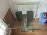 80cm square glass dining table