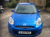 Low mileage Nissan Micra Acenta with Satellite navigation.