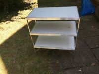 Camping kitchen shelf unit