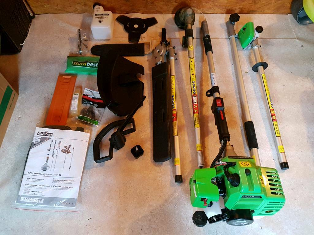 Florabest 4 in 1 petrol multi tool in andover hampshire for Gardening tools gumtree