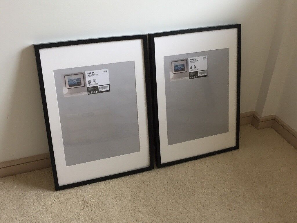 Two IKEA Ribba Frames 50x70 Cm In Black