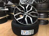 "4 x 17"" AUDI A1 A3 ALLOYS WHEELS + TYRES FIT ALL A1 SEAT IBIZA LEON GOLF VW SET OF FOUR"