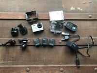 GoPro Hero 3+ Silver with extra batteries, charger, remote etc... Go Pro