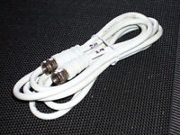 Satellite Cable - F-plug to F-plug - 2m long white - as new