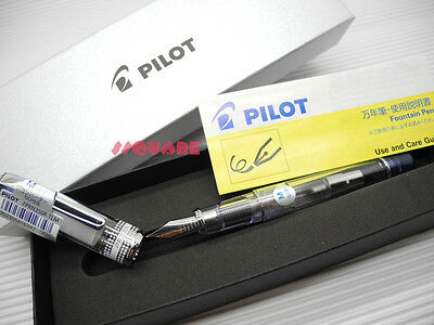 Tracking No. Pilot Fprn-350r Prera Medium Fountain Pen 6 Cartridges Blue