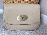 Cream leather handbag. Never used but no tags
