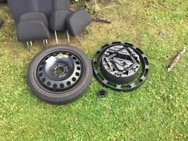 Vauxhall Astra mk 5 h space saver wheel and tool kit