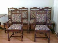 Old Charm dining table, 4 chairs, 2 carvers and sideboard