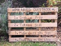 Polaroid guest book sign wedding/party