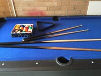 Pool table and extras