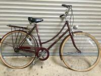 SERVICED LADIES VINTAGE RALEIGH TOWN BIKE - FREE DELIVERY TO OXFORD!