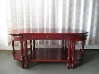 REPRODUCTION MAHOGANY THREE PIECE COFFEE TABLE SET COFFEE TABLE WITH TWO SIDE TABLES FREE DELIVERY