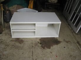 Television Stand, white with useful adjustable shelving and storage