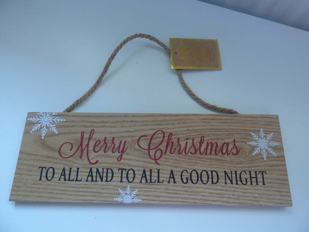 Christmas Wooden Plaque Decoration NEW