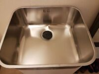 Sink. Large Bowl Undermount Sink. Stainless Steel