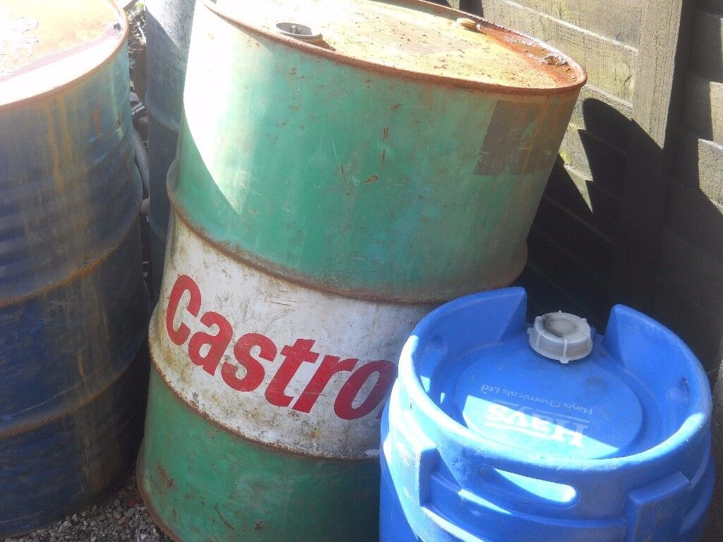 old castrol oil drum