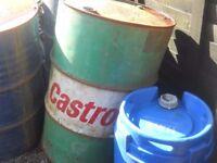 old castrol oil drum