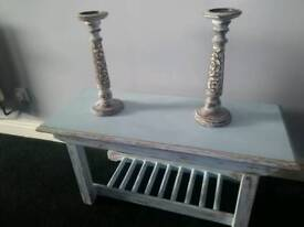 Vintage shabby chic bench table