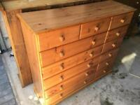 Chest of drawers - solid wood £100