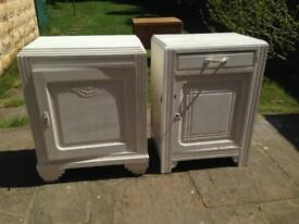 Bedroom side cabinets x 2