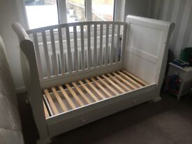 White slay cot bed