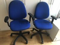 2 Used Blue Office Chairs