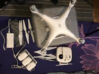 last call, Dji Phantom 4 like new with 3 Battery, controller, 4 pairs of propellers