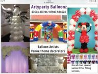 Artyparty Balloonz venue decorators, balloon artists.