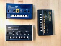 Korg Monoton, Monotron Duo and Monotron Delay for sale in excellent condition