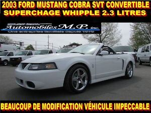 2003 Ford Mustang COBRA SVT CONVERTIBLE 600 HP IMPECCABLE