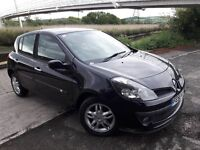 LOW MILES ON THIS (06)(56) REG CLIO DIESEL 5 DOOR.. ALLOYS..BLACK MT PAINT..HISTORY..(30 POUND TAX).