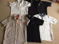 Men's original designer polo shirts/shirt x6 size large.