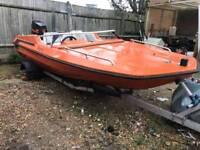 Speed boat 70 hp