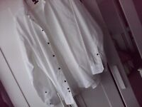 Mens White Long Sleeve Button Up Shirt