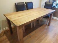 2 & 3 seater sofa & 180cm x 86cm table