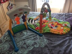 Baby play mat and musical play stand