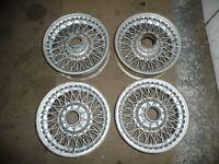 Classic Car Wire Wheels, Original Dunlop, X4