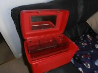 Brand New Beautiful Red Delsey Vanity Case
