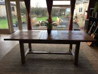 SOLID OAK EXTENDABLE DINING TABLE (JOHN LEWIS) - Reduced for quick sale - new table waiting!