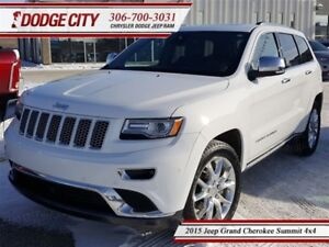 2015 Jeep Grand Cherokee Summit | 4x4 - DVD, R.Start, Heated Lea