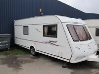 Compass Liberte 18/4L 4 Berth Fixed Bed L shaped Lounge Touring Caravan 2005