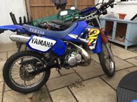 Yamaha DT125 new crank bearings and seals new paint on frame