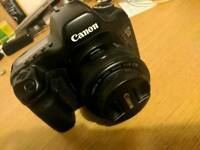 Canon 5d with 50mm lens and CF card