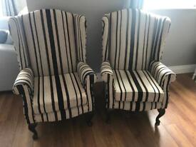 Wing back arm chair (pair)