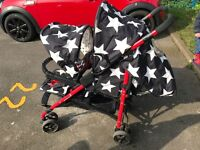 Double cosatto pushchair/buggy