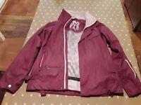 Ladies GROOVSTAR purple ski jacket.