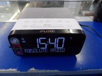 PURE Siesta Rise DAB+/FM Clock Radio - White & Grey