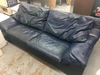 Blue leather sofas ( medium 170cm and large 205cm )