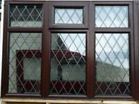 BROWN PVC WINDOW great condition